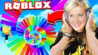 WIFE PLAYS FIRST ROBLOX OBBY!
