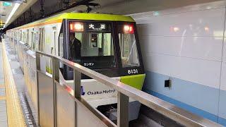 大阪メトロ 長堀鶴見緑地線 大正駅を発車し、車庫に入る80系車両(元今里筋線)