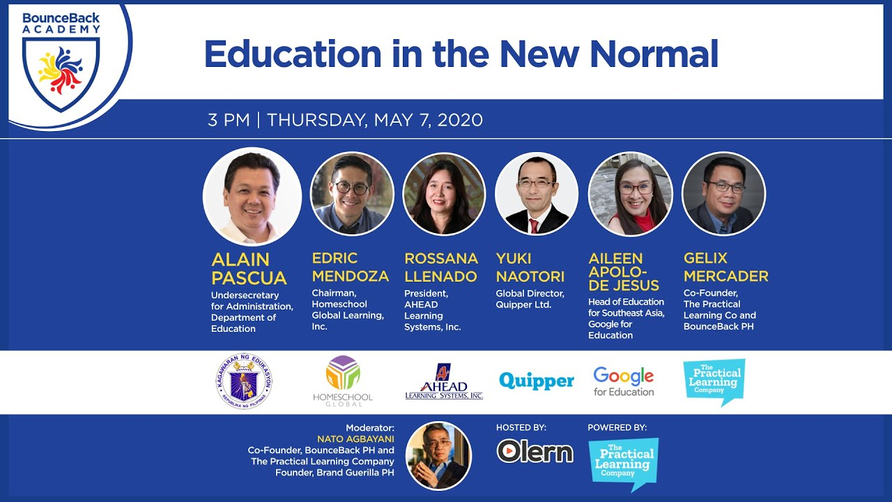 Education In The New Normal Bouncebackph Academy Youtube