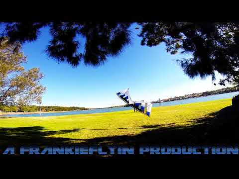 Revolution NYM - 3 Vent kite flying Bay Run, Iron Cove SYDNEY (Axle or two) with Frankie