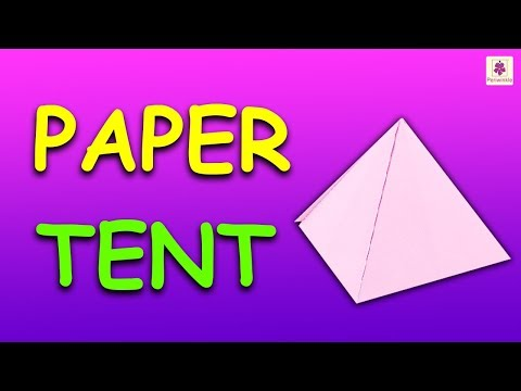 How To Make Paper Tent (Very Easy) | Origami Tent | DIY Tent For Kids | Periwinkle