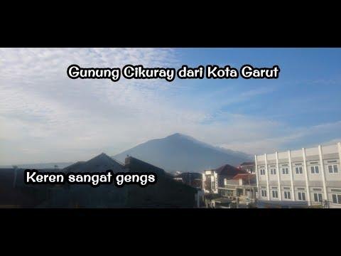 Penampakan Gunung Cikuray dari Kota Garut keren gengs | gunung cikuray | kota garut | timelaps