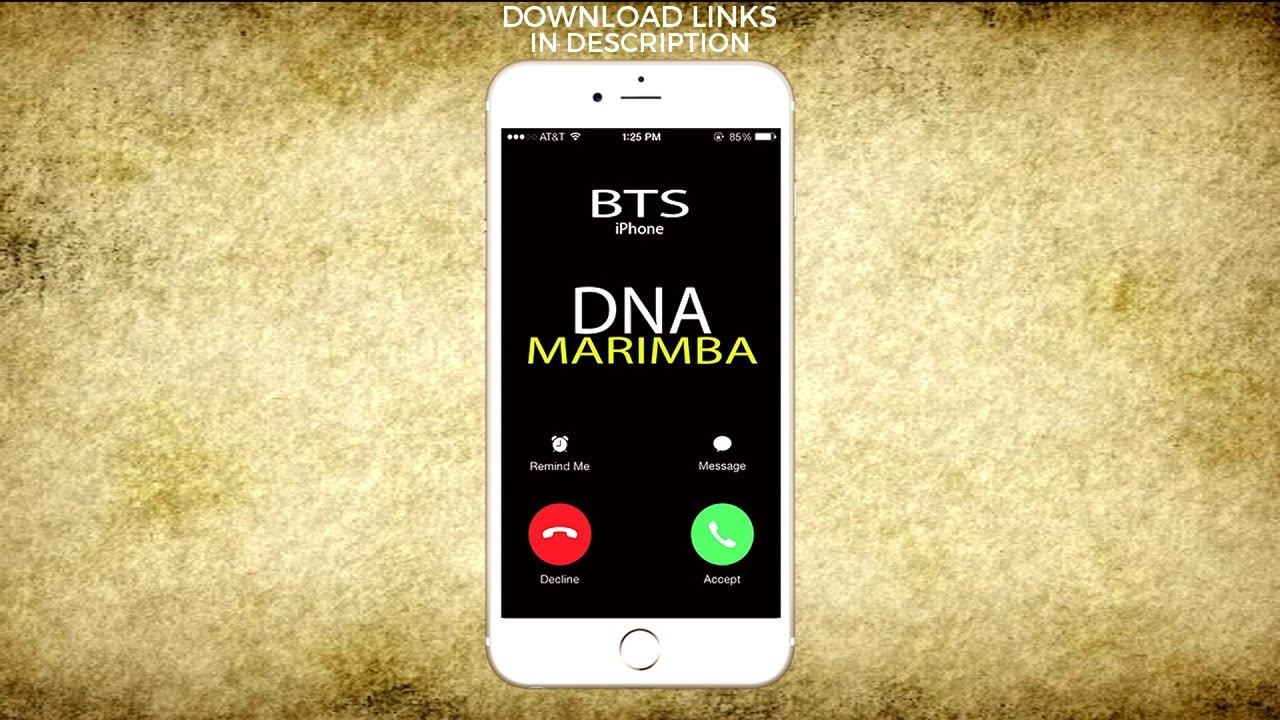 iphone marimba remix iphone ringtone dna marimba remix ringtone bts 12022