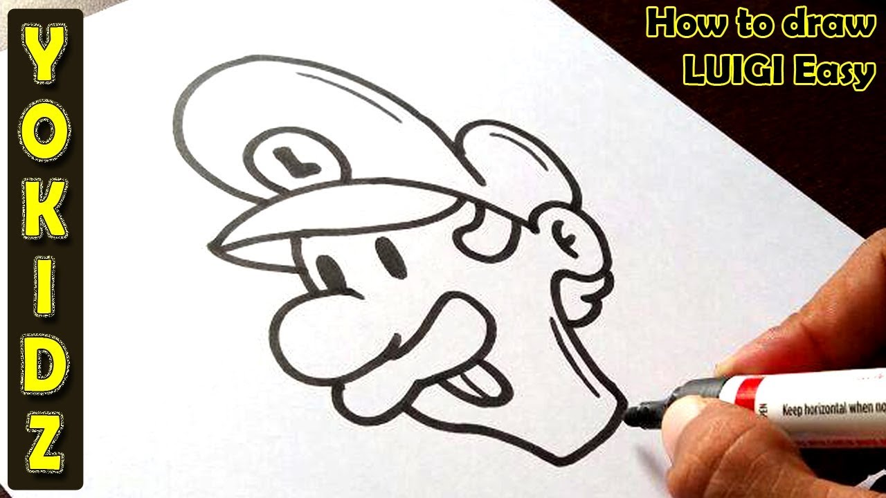 how to draw mario and luigi easy