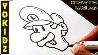 How to draw LUIGI easy
