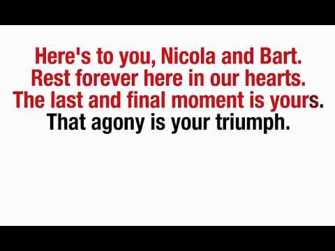 Joan Baez - Here's to you, Nicola and Bart - 2015 AMNESTY INTERNATIONAL GLOBAL CAMPAIGN