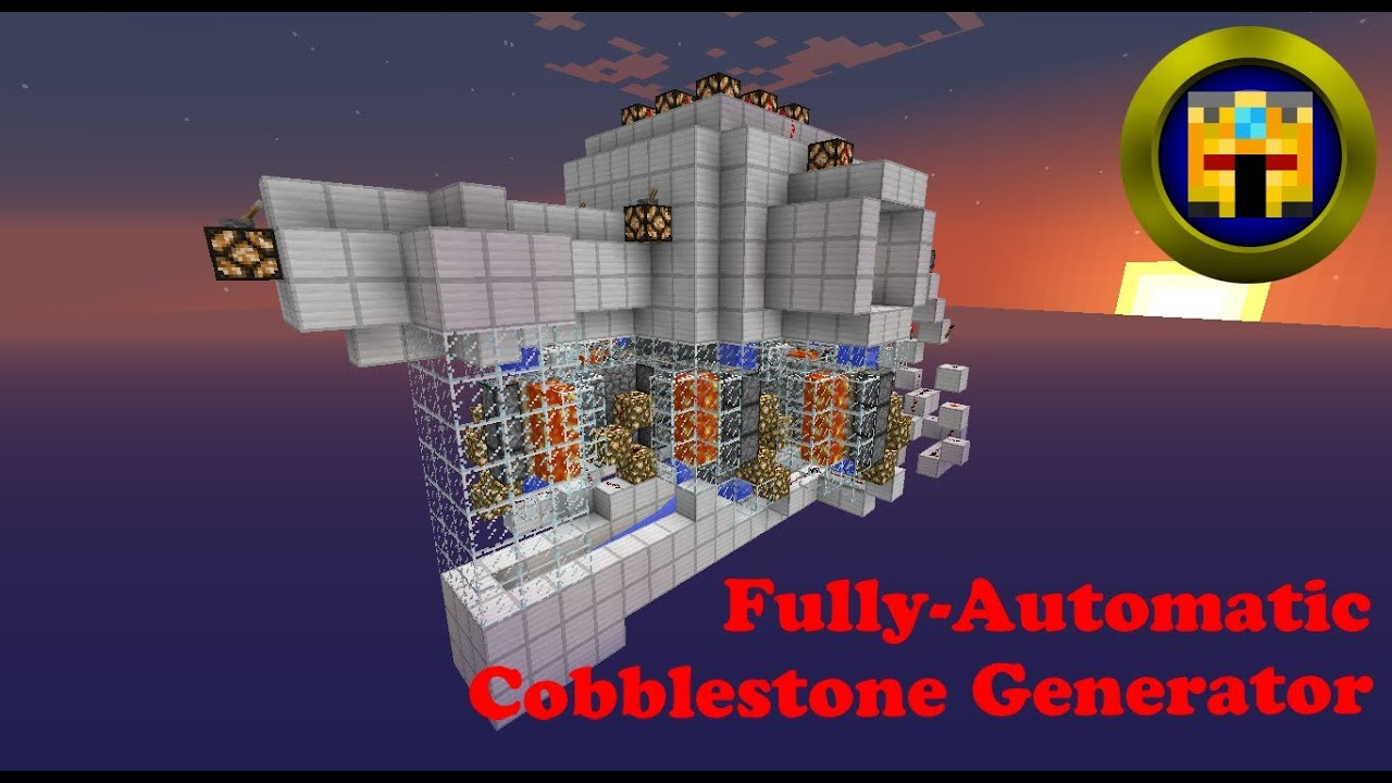 how to make an upgraded cobblestone generator