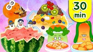 냠냠쩝쩝 맛있는 음식동요♪ | 음식송 모음 연속보기 | 지니키즈★Best동요