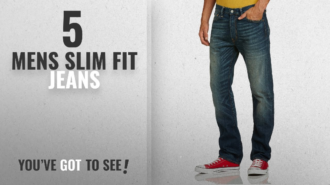 a4a0b939f7 Top 10 Mens Slim Fit Jeans [2018]: Levi's Men's 513 Slim Straight Fit Jeans