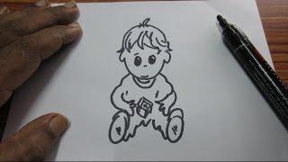 How to Draw a Cartoon Boy Easy Drawing Tutorial Kids school Art
