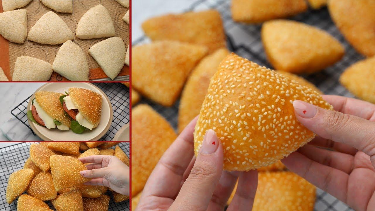 خبز البالون🎈 أسهل خبز للسندويتشات من غير فرن!