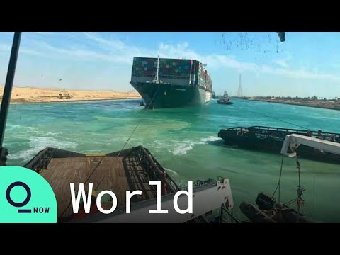 Boats Honk, Crews Cheer as Giant Cargo Ship Dislodged in Suez Canal