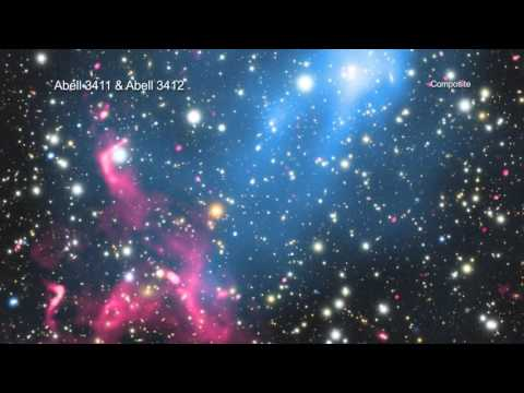 Violent Galaxy Cluster Collision Creates Particle Beam | Video