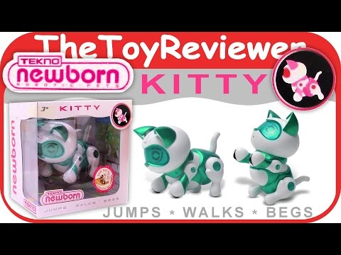 Tekno/Teksta Newborn Kitty Toy Robot Pet Unboxing Toy Review by TheToyReviewer