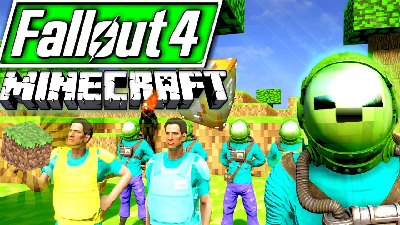 Fallout 4 Mods But It S Minecraft Mod Steve And Creepers Youtube