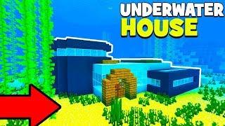 Minecraft Tutorial: How To Make A Modern Underwater House