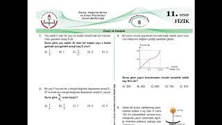 11.Sınıf Fizik Meb Kazanım Testleri-8