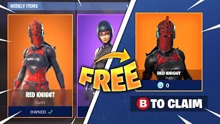 HAVE THE RED CHEVALRESSE SKINS FREE ON FORTNITE BATTLE ROYAL! (Glitch)