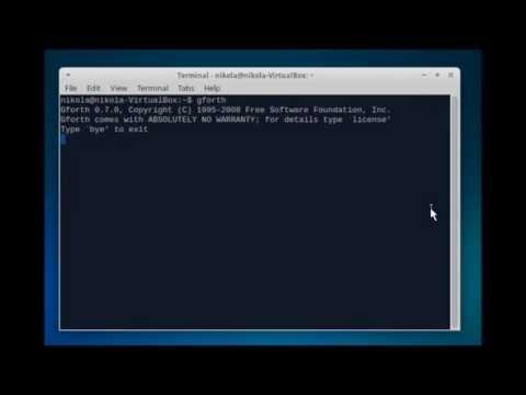 Gforth / Forth Programming Language