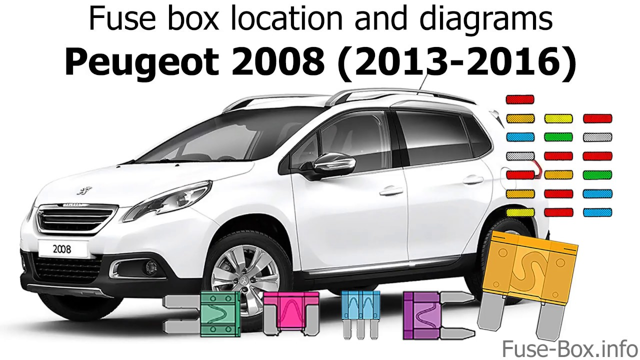 Fuse Box Location And Diagrams  Peugeot 2008  2013