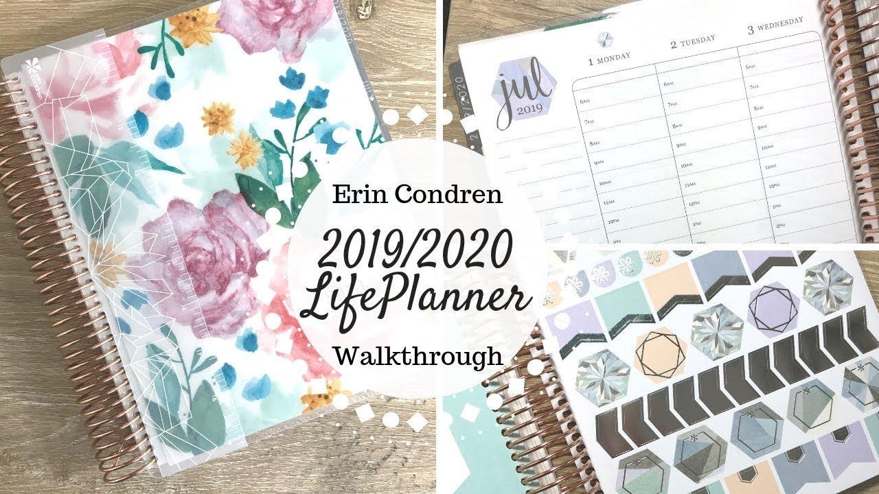 graphic about Erin Condron referred to as Erin Condren 2019/2020 LifePlanner Release Walkthrough