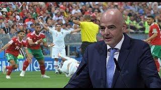 عاجل الفيفا يحقق في واقعة قد تغير نتيجة مباراة المغرب والبرتغال