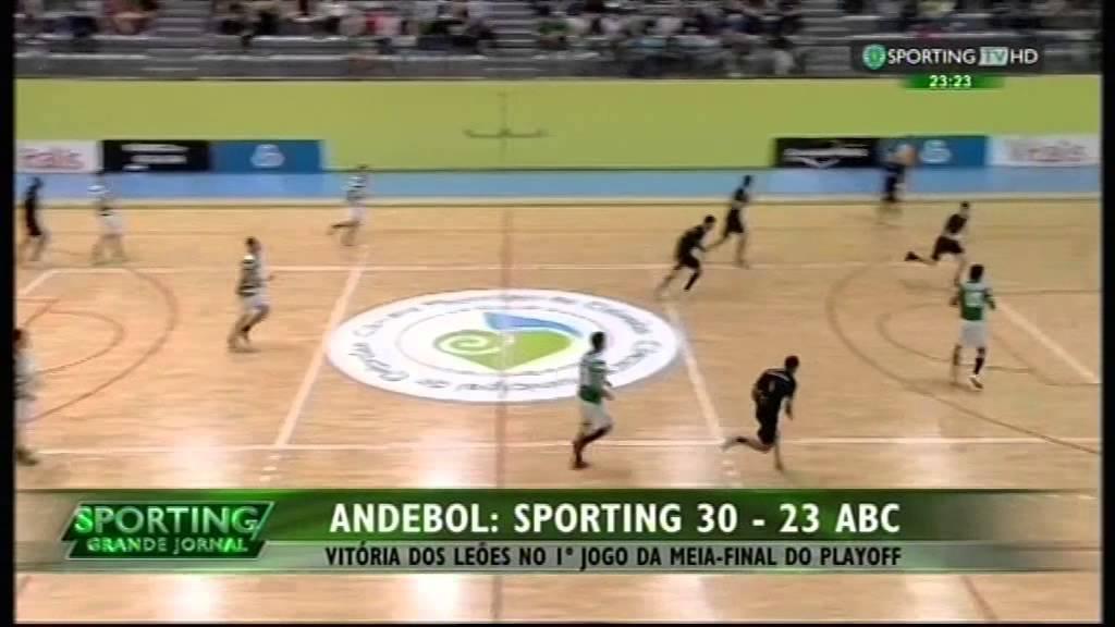 Andebol :: Play-off 1/2 Final 1Jogo :: Sporting - 30 x ABC - 23 de 2014/2015