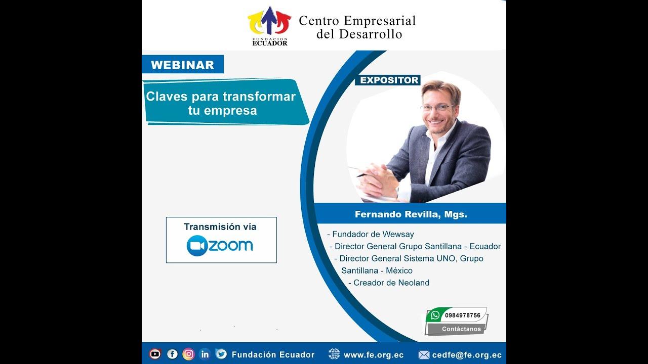 Gracias Fundación Ecuador por invitarnos a contar como transformar tu empresa basándote en tu gente.