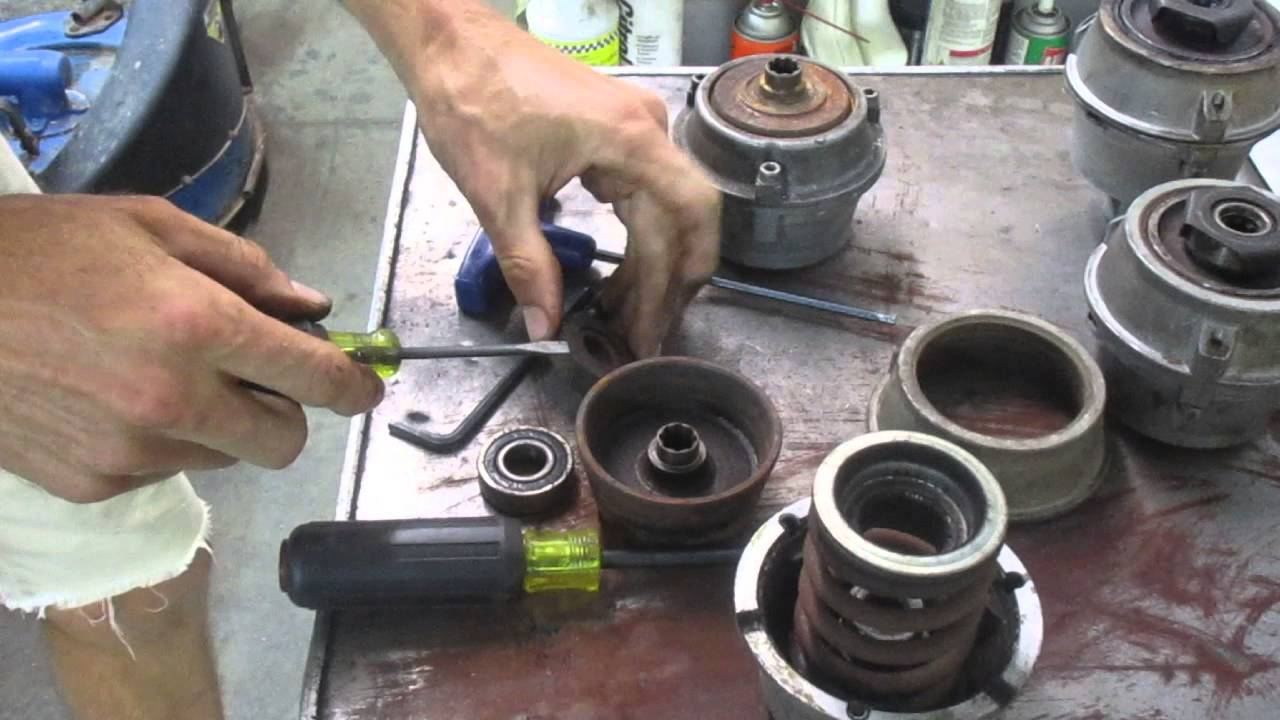 Walk Behind Tractor >> Walk-Behind tractor Clutch service -- bolted-together Cone type clutch - YouTube