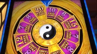 ★Challenged a New Aruze game☆WHEEL OF PROSPERITY (PHOENIX) Slot  $125 Free Play Live @ San Manuel☆彡栗