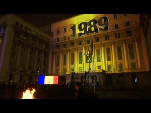 Marcha em Bucareste em memória das vítimas da Revolução Romena