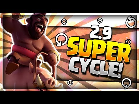 INSANE 2.9 SUPER CYCLE!! Best Hog Ladder Deck! No Legendary - Arena 8 to 11 - Clash Royale