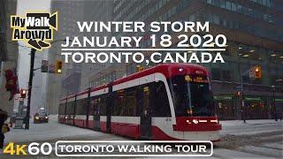 January 18 2020 Toronto Winter Storm ( Toronto 4k video )