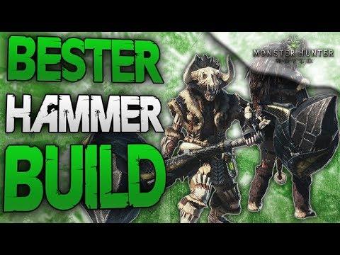 Bester Hammer Build - 1420 Angriff und immer weiße Schärfe - Monster Hunter World Deutsch thumbnail