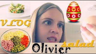 Learn Russian - Vlog: How To Make Olivier Salad | Как сделать салат Оливье