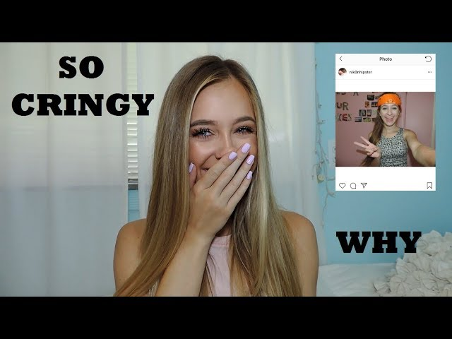 REACTING TO MY OLD TUMBLR PICTURES