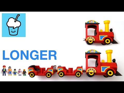 Learning longer for kids with playmobil playground train