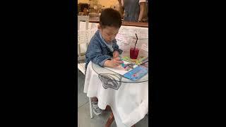 4살 태하! 미술공부~ a four-year-old b…