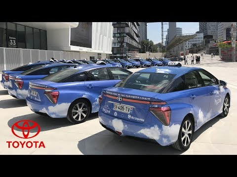Toyota Mirai Hydrogen Fuel Cell Electric Vehicle at the HYPE Taxi Service in France