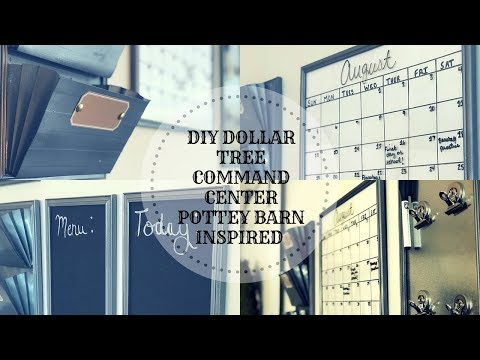 POTTERY BARN INSPIRED DOLLAR TREE COMMAND CENTER||LOOK FOR LESS CHALLENGE