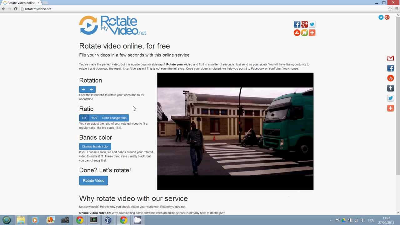Rotate Video online, for free | RotateMyVideo net