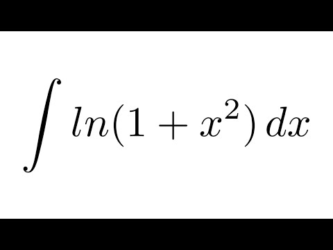 Integral Of Ln1x2 By Parts Youtube