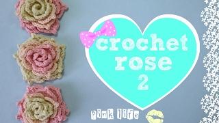 ✿✿ ✿Цветы крючком для начинающих//Роза крючком//Crochet flowers