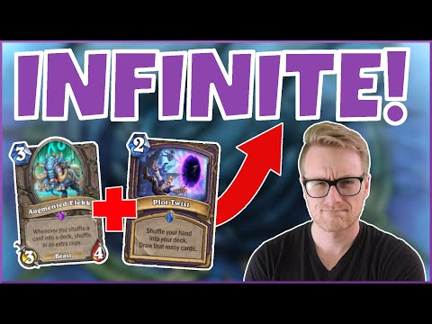 Hearthstone | Infinite Cards! | Wild Plot Twist Warlock | Rise of Shadows | Legend