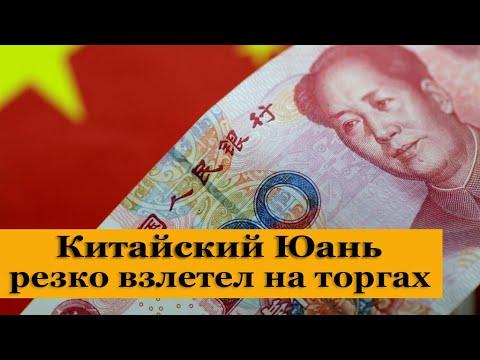Китайский Юань резко дорожает на торгах. Обвал доллара