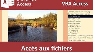 Accéder aux fichiers d'un dossier en VBA Access