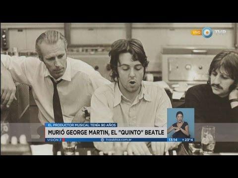 """Visión 7 - Murió George Martin, el """"quinto"""" Beatle"""