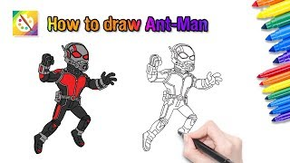 How to draw Ant Men, very easy for childen and help coloring
