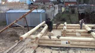 Строительство бани из дикаря | log construction(Компания Holzhaus предлагает полный комплекс услуг по строительству домов и бань из бревна. Наше основное отли..., 2014-03-07T13:03:06.000Z)