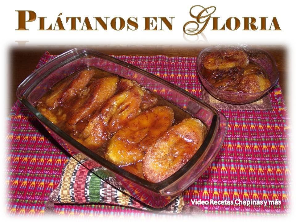 Receta Platanos En Gloria Guatemala